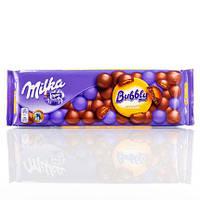 Шоколад Milka Bubbly Caramel пористый молочный с карамелью 250г