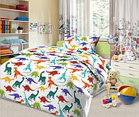 Комплект постельного белья Дино-пати (поплин) в кроватку