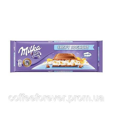 Шоколад Milka Crispy Joghurt молочный йогурт+хлопья 300г , фото 2