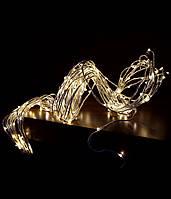 """Гирлянда """"Конский хвост"""" 200 LED: 10 линий по 2 м, 20 диодов/ нить, цвет - тёпло-белый, статический режим"""