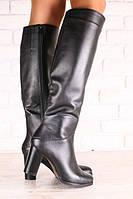 Демисезонные женские кожаные сапоги