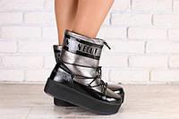 Зимние женские ботинки на толстой подошве и на меху