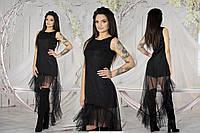 """Платье ассиметрия, вечернее, коктейльное черное платье """"Хлоя"""", разные цвета."""