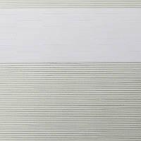 Рулонные шторы День Ночь Ткань Мираж ВН 102 White