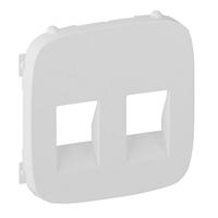Лицевая панель для 2-й аудио розетки, Legrand Valena Allure Белый