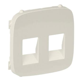 Лицевая панель для 2-й аудио розетки, Legrand Valena Allure Слоновая кость