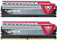 Оперативная память для компьютера 8Gb x 2 (16Gb Kit) DDR4, 2400 MHz, Patriot Viper Elite Red, 15-15-15-35, 1.2V, с радиатором (PVE416G240