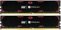 Оперативная память для компьютера 8Gb x 2 (16Gb Kit) DDR4, 2133 MHz, Goodram Iridium Black, 15-15-15, 1.2V, с радиатором (IR-2133D464L15S