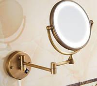 Зеркало настенное с подсветкой бронза 0464, фото 1