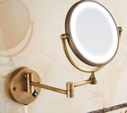 Зеркало настенное с подсветкой бронза 0464