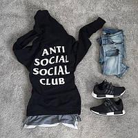 ASSC топовая худи • Бирка печатная • Anti Social Social Club толстовка мужская