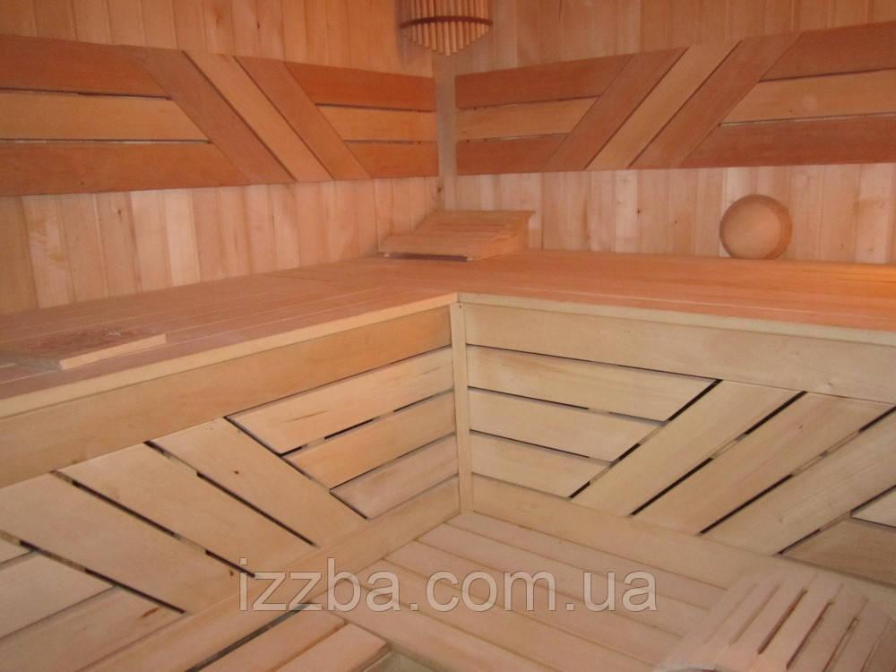 Полки для бани из липы 80*40 мм, длинна 2,8