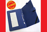Чехол клавиатура для планшета 10 Rus MicroUSB Синяя, фото 1