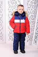 Зимний комплект «Ральф»для мальчика 2-5 лет (куртка + брюки; размер 24-30 / рост 92-116 см) ТМ MANIFIK Красный