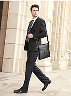 Мужская кожаная сумка. Модель 63298, фото 4