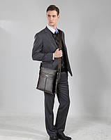 Мужская кожаная сумка. Модель 63298, фото 5
