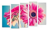 Модульная картина два цветка 3д