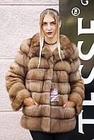 """Полушубок из канадской куницы """"Ария"""" marten fur coat jacket , фото 1"""