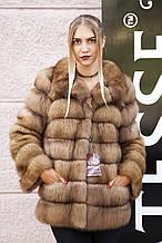"""Кожушок з канадської куниці """"Арія"""" marten fur coat jacket"""