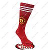 Гетры футбольные детские клубные Манчестер Юнайтед FB020142 (х-б, верх-нейлон, р-р 32-37, красный)