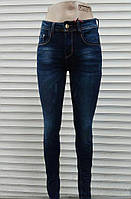Утепленка джинс Стильные женские  молодежные джинсы варенка  с царапками
