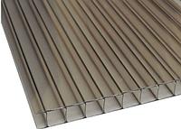Сотовый поликарбонат Sunnex 2,1* 6 м 10 мм Бронза