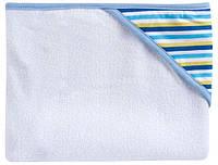 Полотенце с капюшоном (голубая полоска) 80 × 95 см, Canpol babies