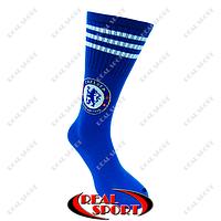 Гетры футбольные детские клубные Челси FB020143 (х-б, верх-нейлон, р-р 35-39, синий)