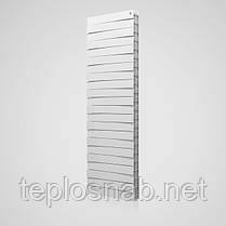 Радиатор биметаллический Royal Thermo Pianoforte Tower Silver Satin 18 секций, фото 3