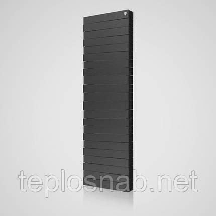 Радиатор биметаллический Royal Thermo Pianoforte Tower Noir Sable 18 секций, фото 2