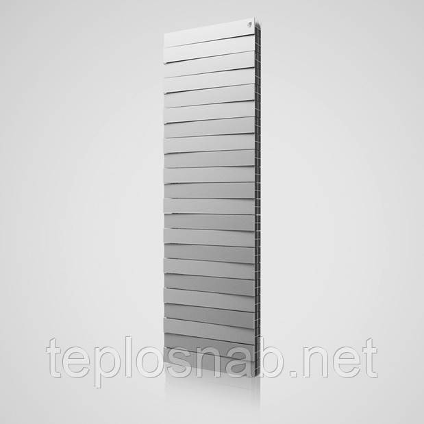Радиатор биметаллический Royal Thermo Pianoforte Tower Silver Satin 18 секций
