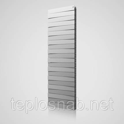 Радиатор биметаллический Royal Thermo Pianoforte Tower Silver Satin 22 секции, фото 2