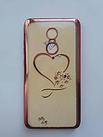 Силикон Beckberg Samsung S6 Edge Heart (Gold)
