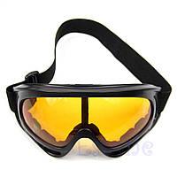 Очки лыжные велосипедные спортивные вело мото оранжевые, фото 1