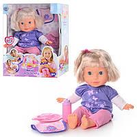 Кукла 5375, Мила, звук(рус), реагирует на аксессуары, 35см, на бат-ке, в кор-ке, 35,5-28-12,5см.