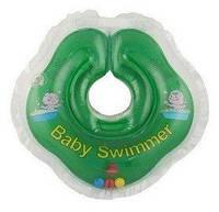 Круг на шею Baby Swimmer Classic с погремушками салатовый