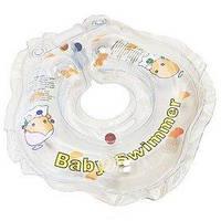 Круг на шею Baby Swimmer KP101022 белый с погремушками