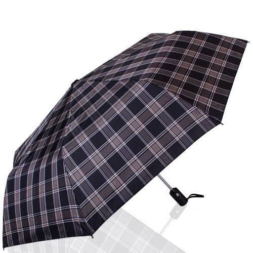 Мужской стильный автоматический зонт, антиветер ТРИ СЛОНА RE-E-907L-1, цвет черный.