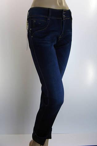 Жіночі зимові утеплені джинси батали , фото 2