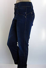 Жіночі зимові утеплені джинси батали , фото 3