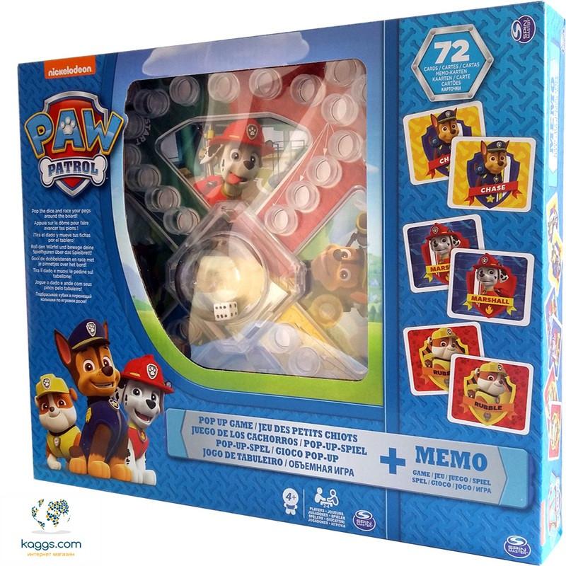 Набор из двух настольных игр «Щенячий патруль»:  игра с кнопкой и мемори SM98281/6036439 Spin Master - Всеукраинский интернет-супермаркет Kaggs.com в Харькове