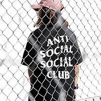 Anti Social Social Club • Топовая женская футболка ASSC • Бирки Оригинальные фото