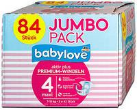 Подгузники Babylove  Premium Jumbo 4 maxi (7-18 кг) 84 шт