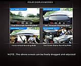 DVR K15 Авторегистратор зеркало 360 грудусов + камера заднего вида, сенсорный экран, фото 3