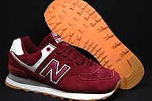 Бордовые женские/подростковые кроссовки в стиле New Balance 574(размеры в наличии:36,37)