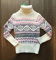 Теплый вязанный свитер ADA для девочек р-р 6-12 лет