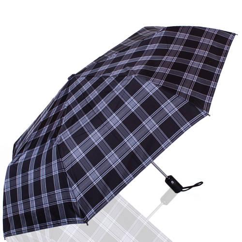 Мужской элегантный автоматический зонт, антиветер ТРИ СЛОНА RE-E-907L-4, цвет синий.
