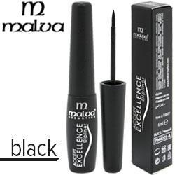 Malva - Подводка для глаз жидкая PM-4001 DipLiner Тон черная, твердая кисть