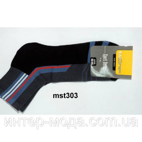 Шкарпетки чоловічі спортивні,махрова стопа, подвійна гумка,малюнок р. 25, арт.303