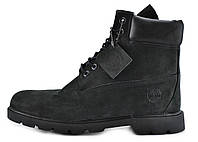 Зимние мужские ботинки Timberland Black, на меху